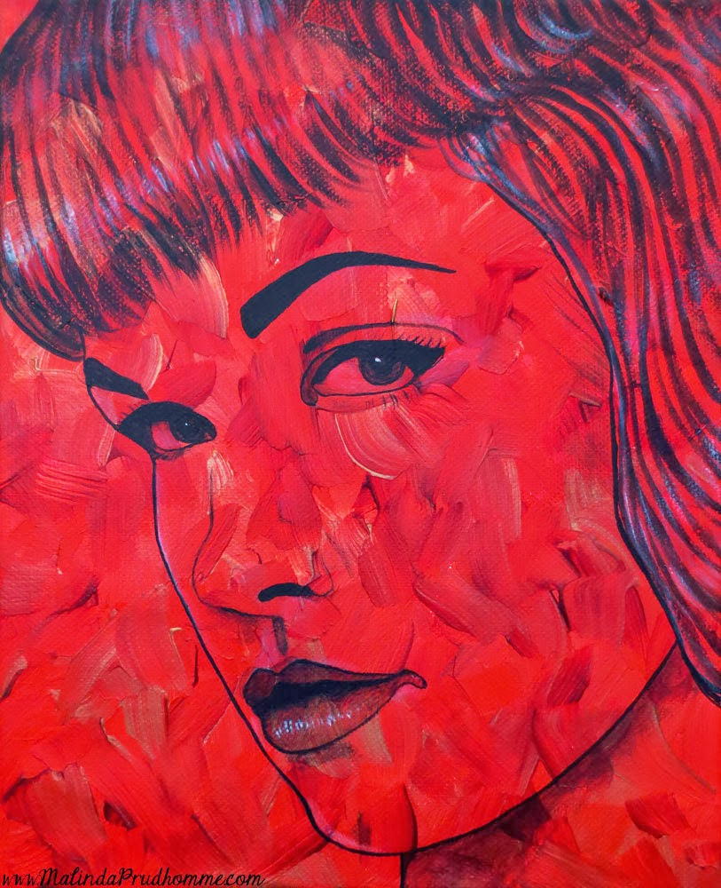portrait artist, malinda prudhomme, pop art, vintage pop beauties,bettie page, bettie page art, painting, original artwork, original paintings