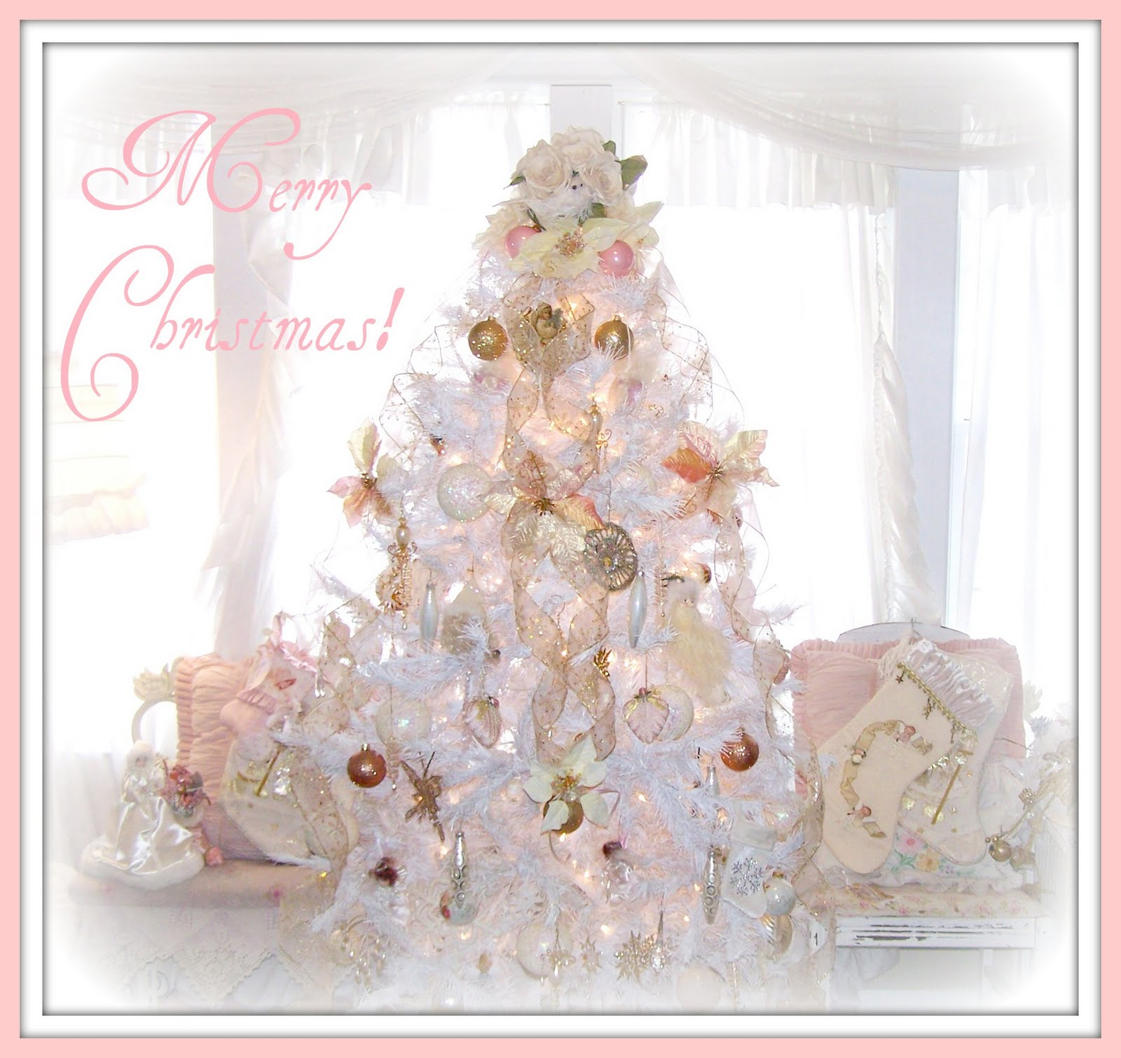 Olivia's Romantic Home: Merry Shabby Chic Pink Christmas!