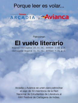 Vuelos Literarios de RedNEL Colombia al MAPFRE Hay Festival & Off Off Festival, Cartagena 2006-2009