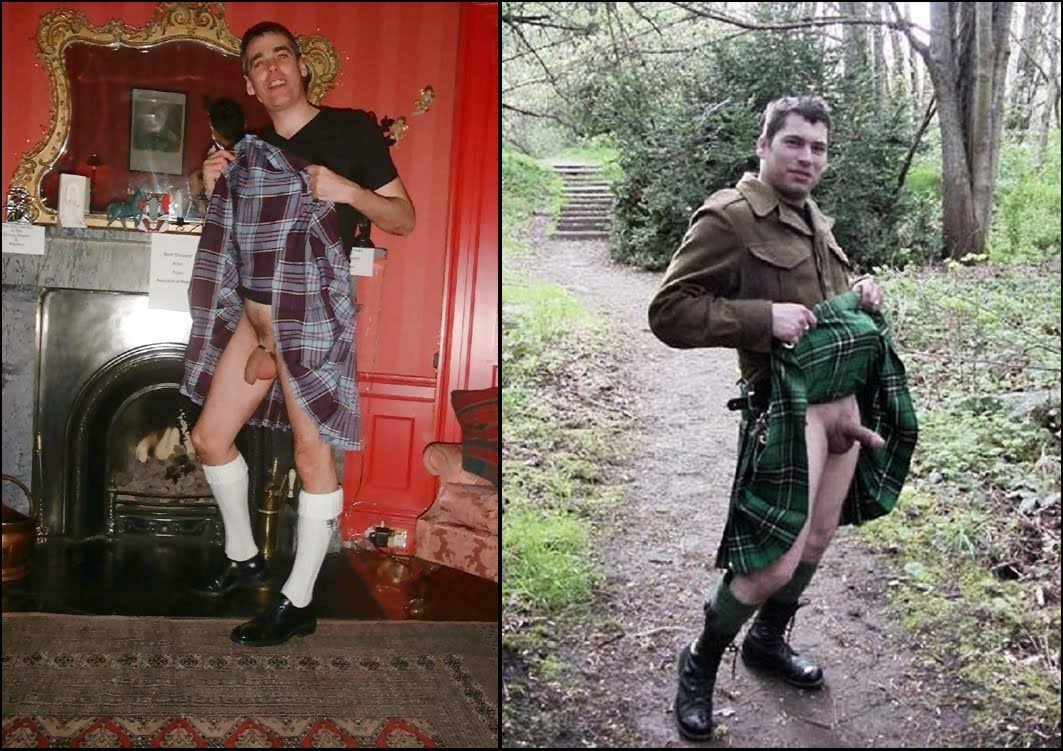 Naked men in kilt