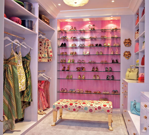 Girls Walk-In Closet Design