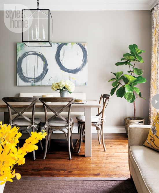 Home tour a fresh and stylish toronto home modern diy for Painting for dining area