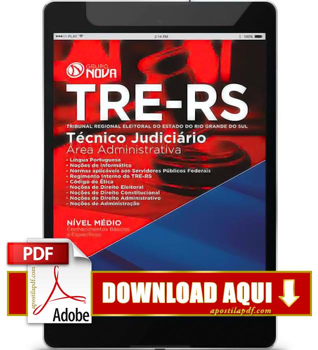 Apostila TRE RS 2015 PDF Download Técnico Judiciário
