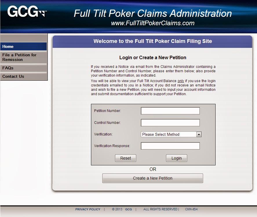 Gcg full tilt poker claims