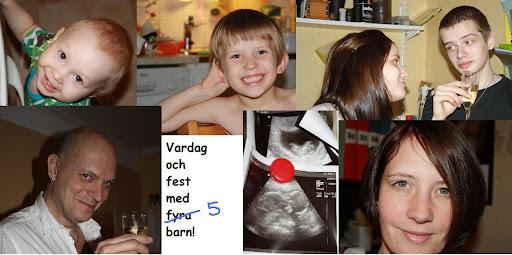 Vardag och fest med fyra barn