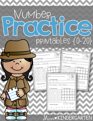 https://www.teacherspayteachers.com/Product/Number-Printables-0-20-1964044