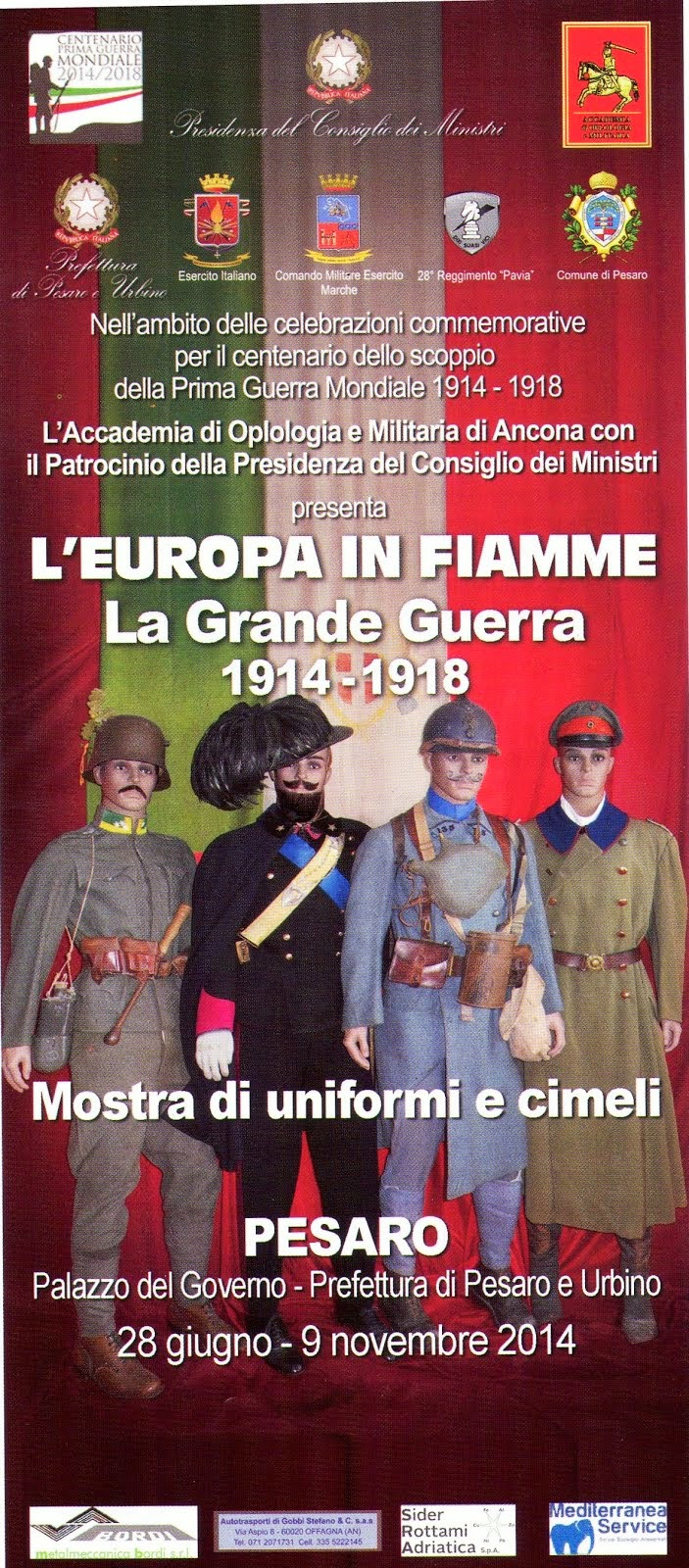 Pesaro. Mostra Europa In Fiamme 1914