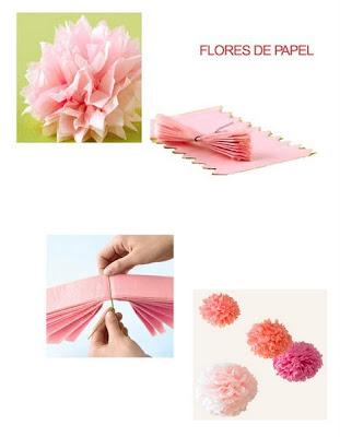 pompom de papel de seda - com PAP (DIY)