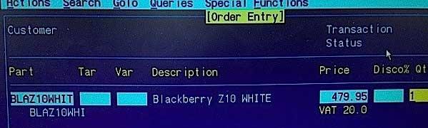 Bocoran Harga BlackBerry Z 10