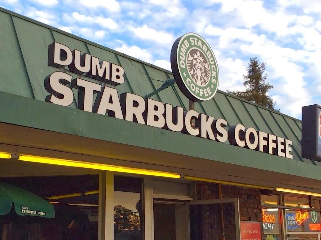 Art Installation Or IP Infringement At Parody Coffee Shop Dumb Starbucks