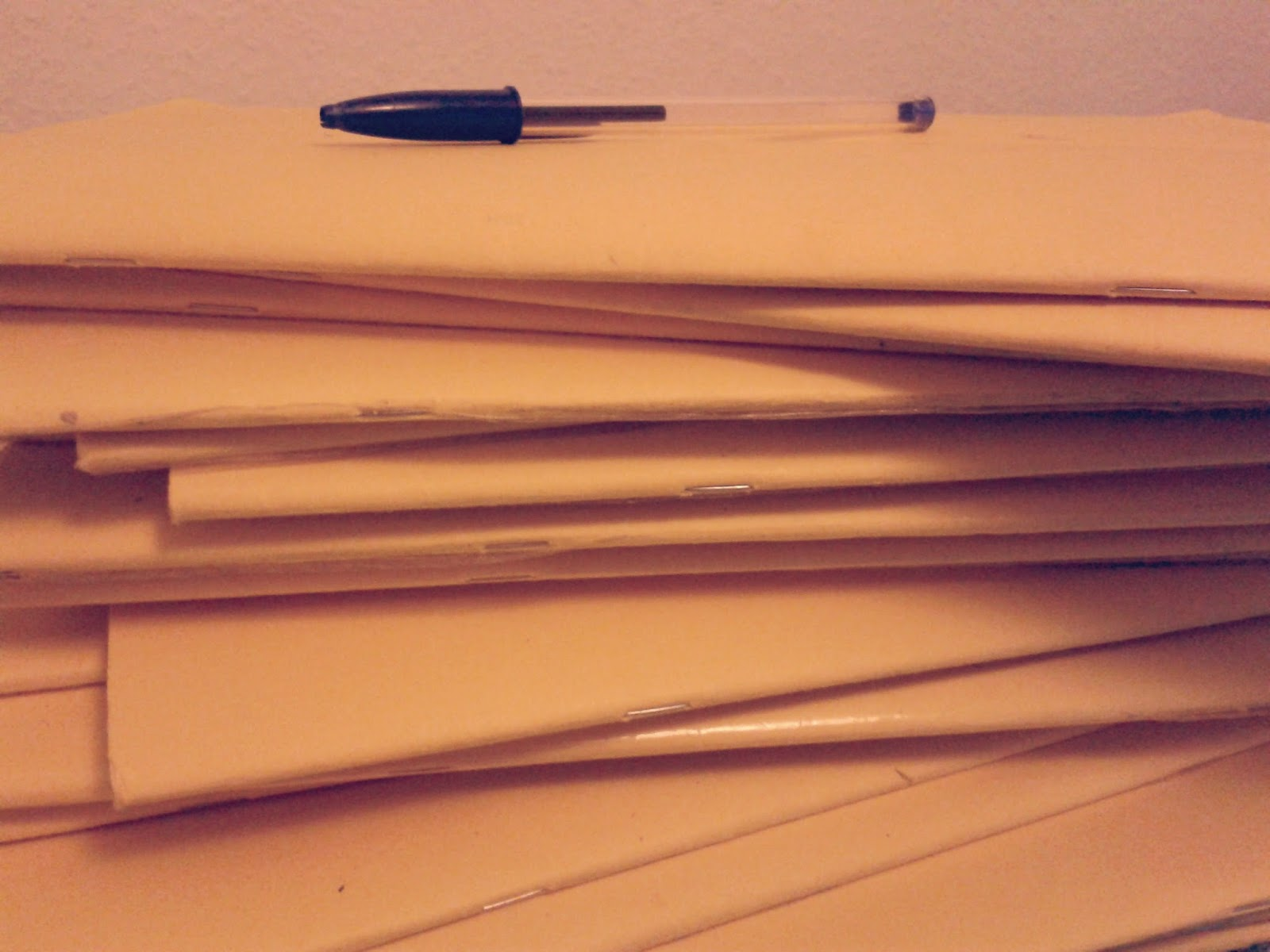 Project 365 day 71 - Pile of workbooks // 76sunflowers