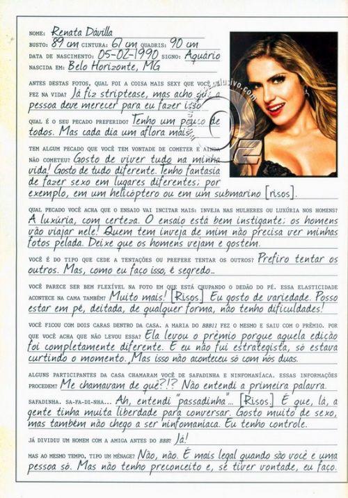 Playboy Renata BBB12
