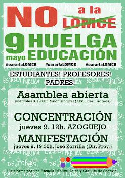 9 MAYO HUELGA GENERAL EDUCACIÓN