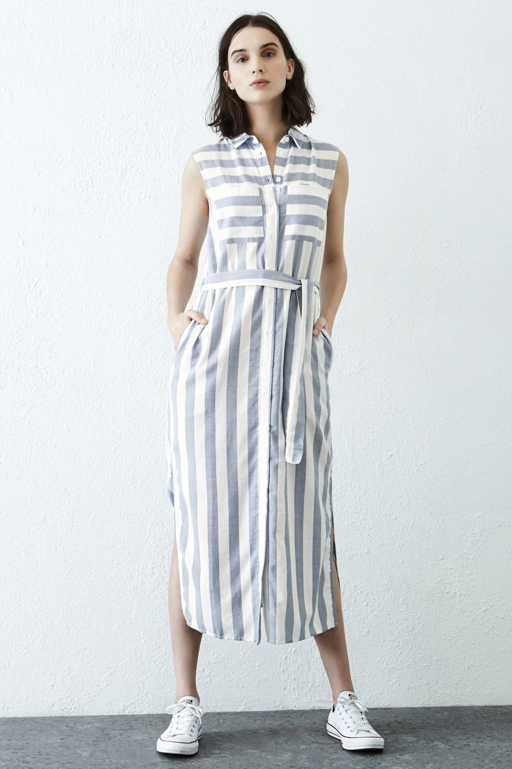 warehouse striped dress