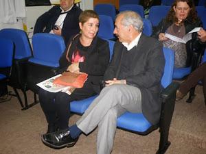 Mónica Cortés y el Alcalde Patricio Freire