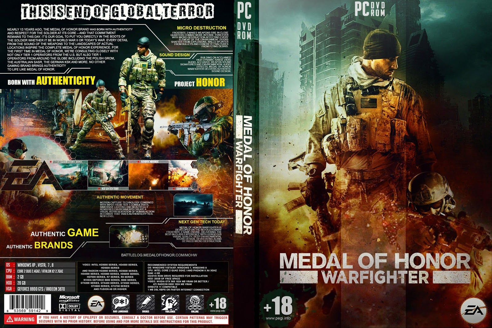 Capa Medal Of Honor Warfighter PC