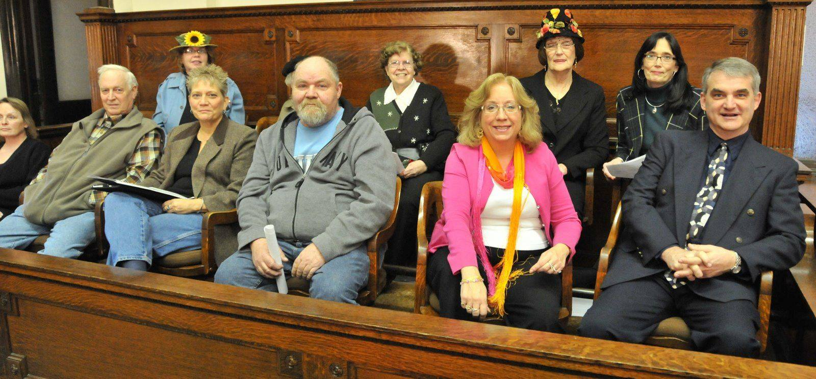 Learn who couldn't get out of jury duty for the trial of Elmer Plow!