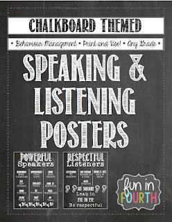 https://www.teacherspayteachers.com/Product/Speaking-and-Listening-Posters-Chalkboard-Themed-824277