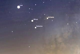 Encontro de Vênus e Saturno poderá ser visto esta madrugada