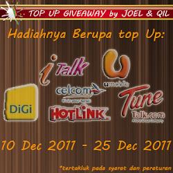 TOP UP GIVEAWAY by JOEL & QIL