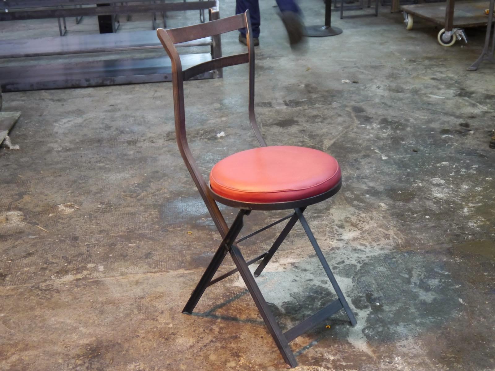 Silla Melibea, estilo industrial vintage.