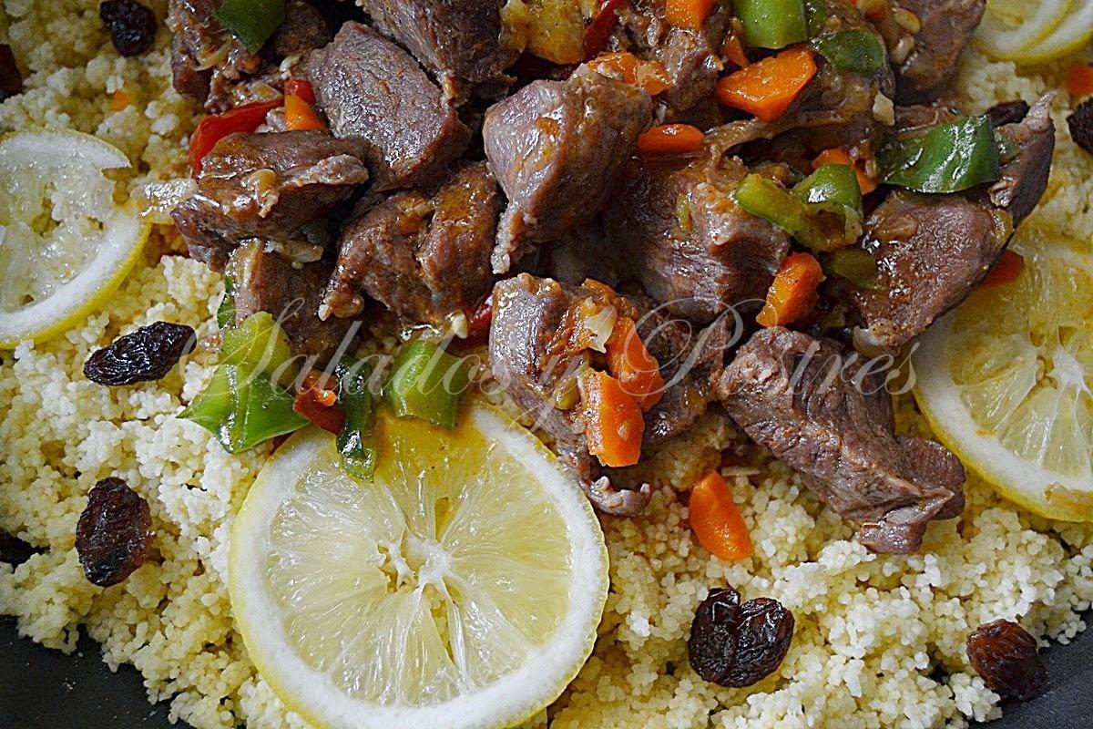 Carne carrillada de cerdo con cous cous al estilo marroqu - Cordero estilo marroqui ...
