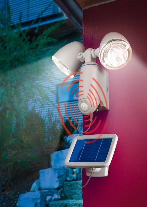 Jard n solar focos solares con sensor de movimiento - Focos solares jardin ...