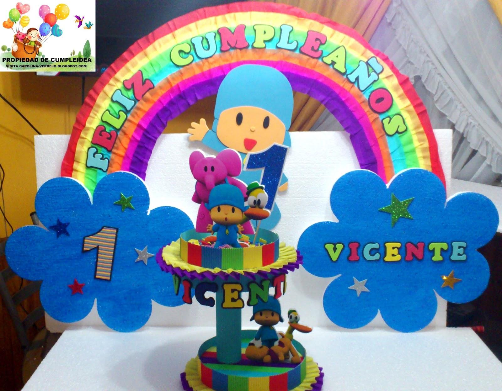 Adornos de pocoyo para fiestas infantiles - Imagui