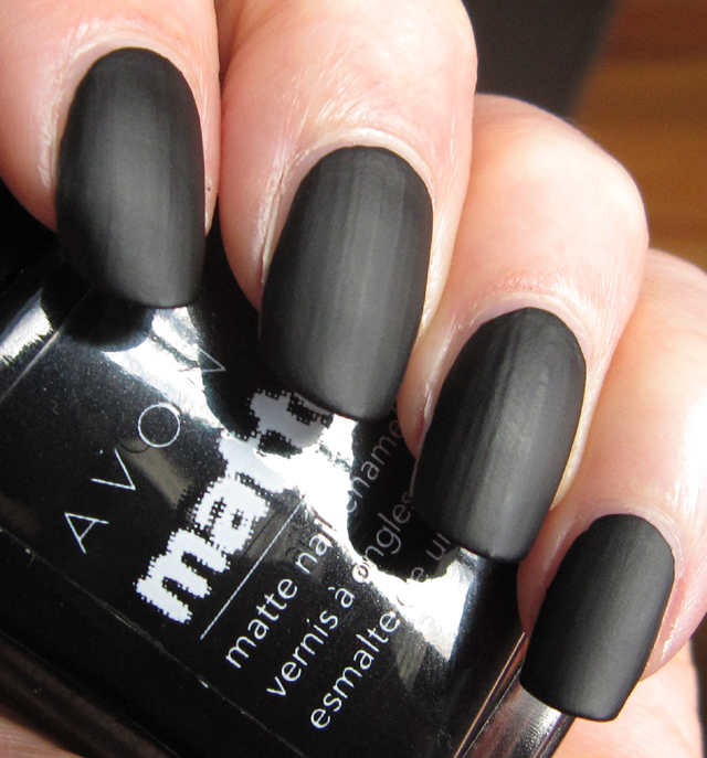 Matte Black Glitter Nail Polish: Glitter Is My Crack...: Nails/NOTD: Avon Matte