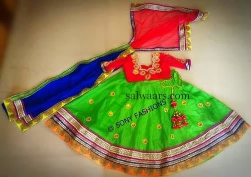 Kids Lehenga with Silk Chunni