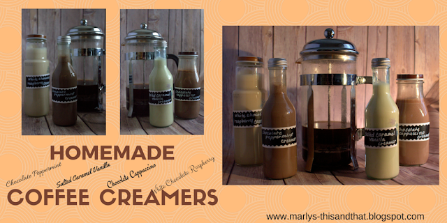 Homemade Coffee Creamers- perfect with to sweetened your coffee.
