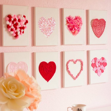 Turn craft supplies into heart art!
