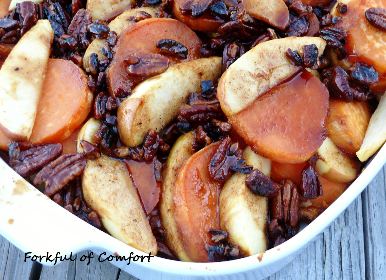Forkful of Comfort: Whiskey-Glazed Sweet Potatoes