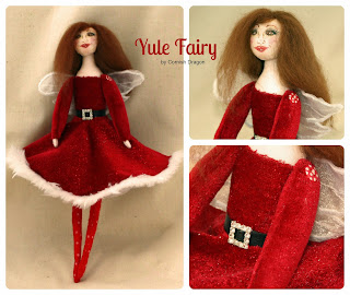 Christmas Cloth Art Doll