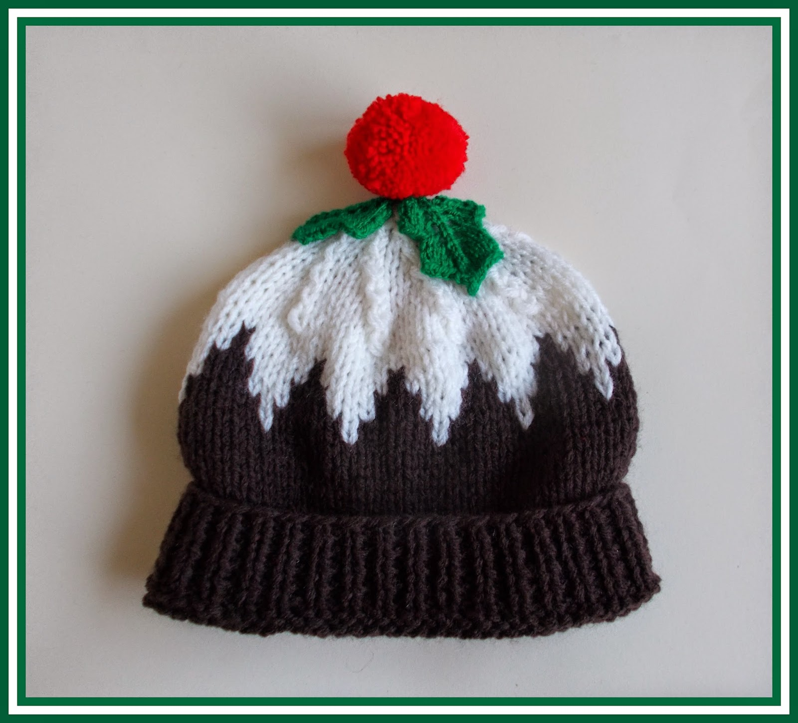 Knitting Pattern For A Christmas Pudding : mariannas lazy daisy days: Christmas Pudding Hat