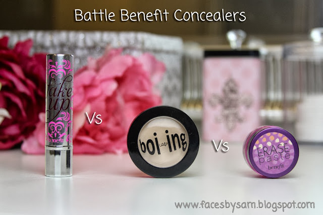 Benefit Fake Up Boi-ing Erase Paste Concealer Comparison