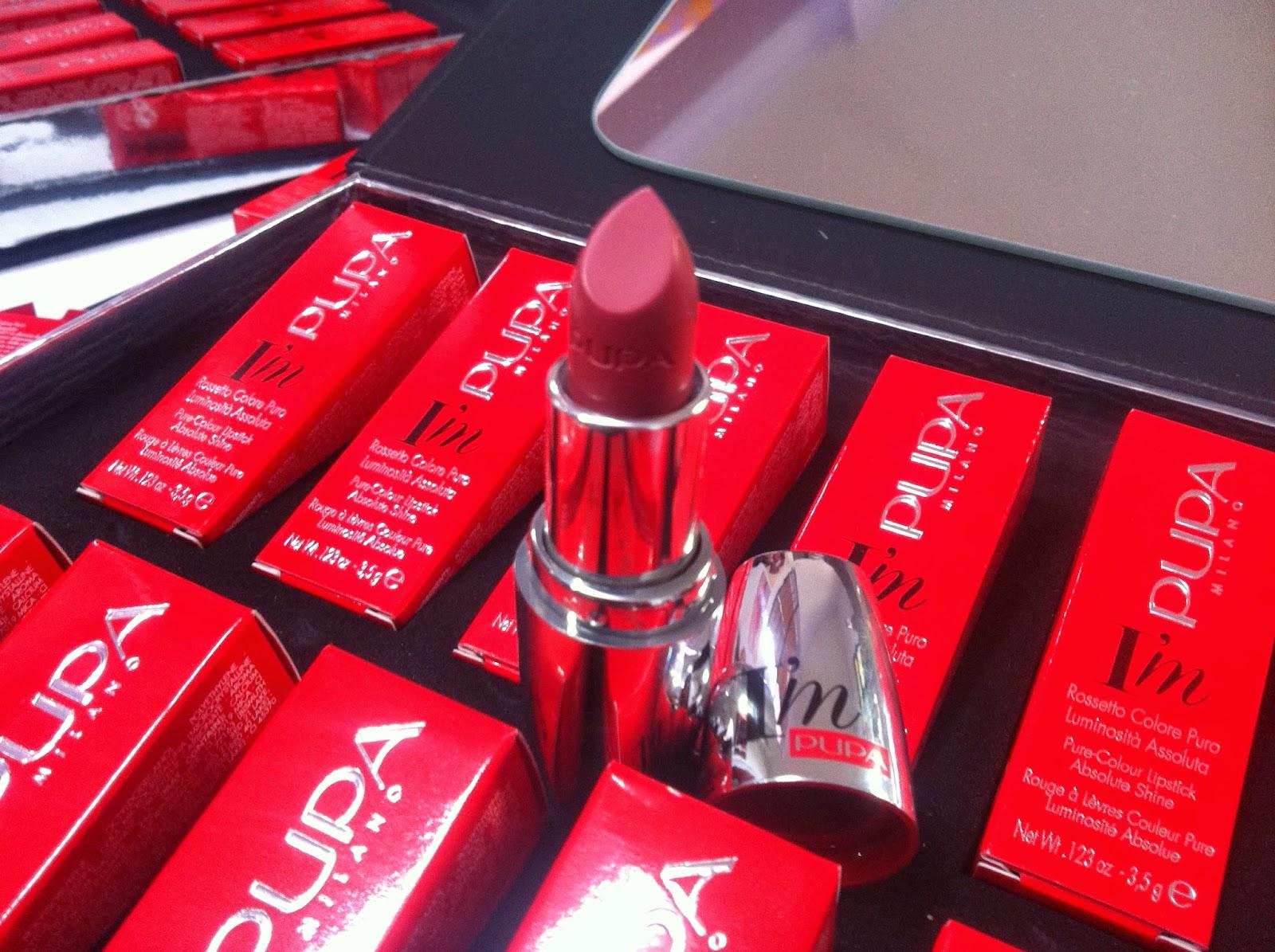 PUPA rossetti I'M Lipstick swatches