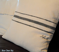 Painted Faux Grainsack Pillow
