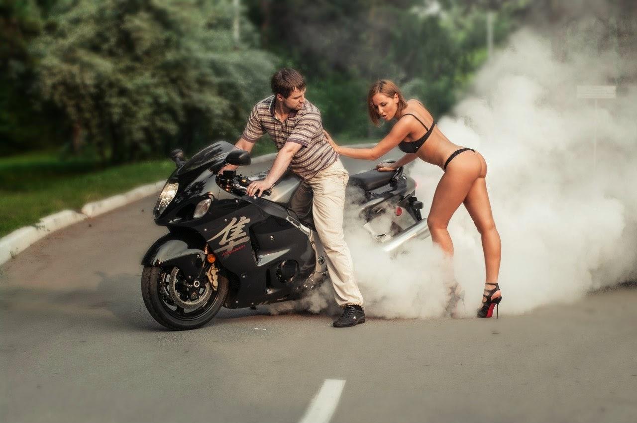 Прикольные фото с мотоциклом и девушкой