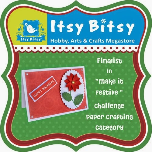 Finalist in ITSY BITSY December Challenge!