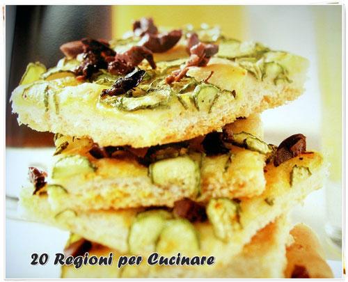 20 regioni per cucinare focaccia allo zafferano con zucchine for Cucinare per 20 persone