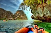 kayak, thailand, travelers,