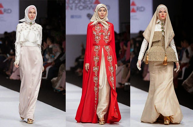 أزياء محجبات 2015 : فساتين سهرة أنيقة وناعمة مناسبة للمرأة المحجبة , ازياء المحجبات 2015