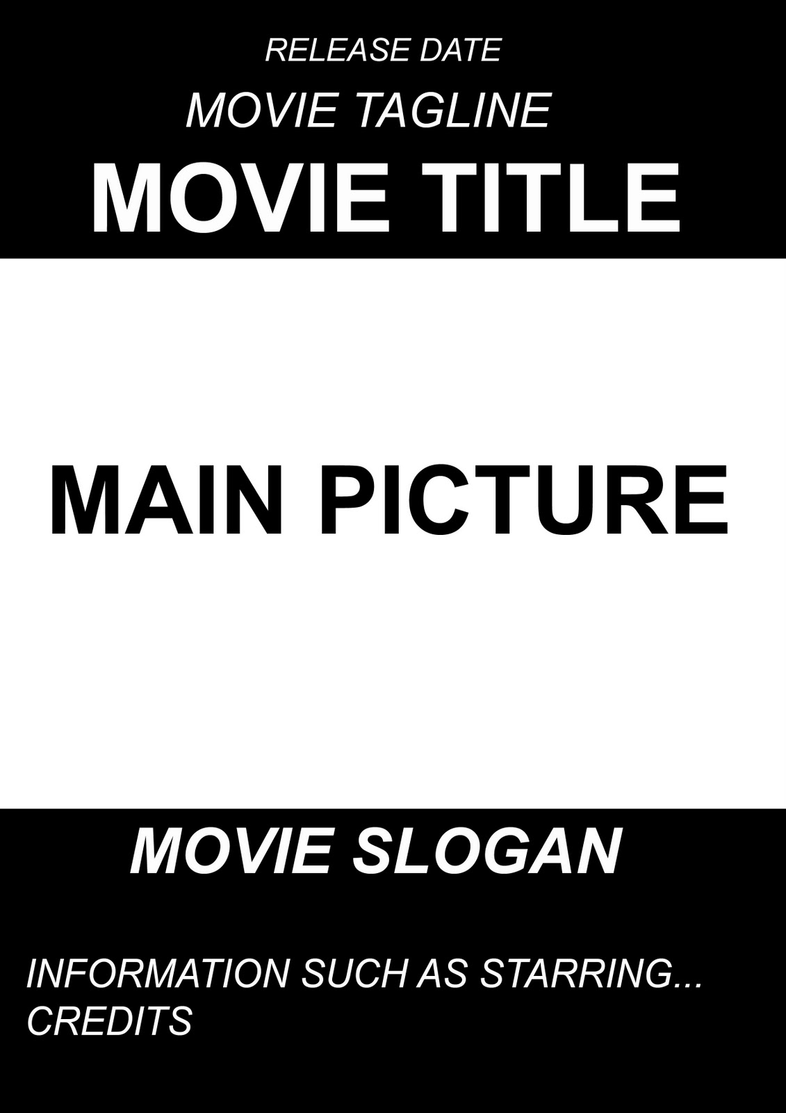Movie poster project book