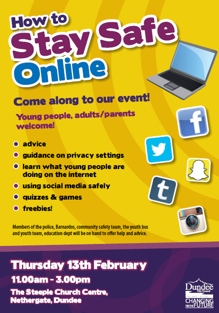 How to Stay Safe Online Event Dundee 13 February 2014