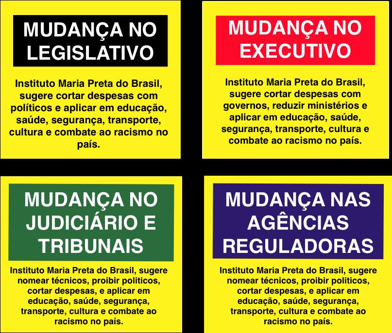 Campanha Maria Preta por mudanças  no Brasil
