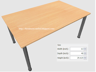 meja makan persegi minimalis dan ukurannya