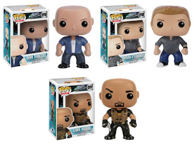 Fast & Furious Pop! Movies Vinyl Figures Series 1 - Dominic Toretto, Brian O'Conner & Luke Hobbs