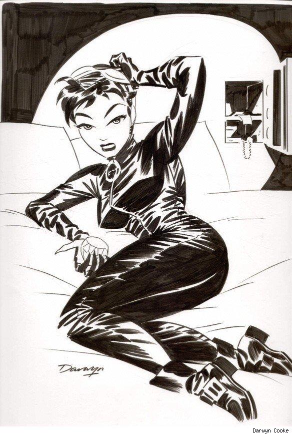 Adam Hughes Black Cat Art