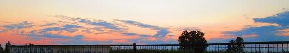 Dam Line 9, sunrise August 7 2014.